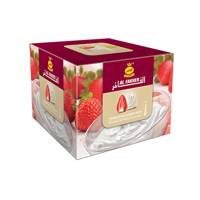 Al Fakher Shisha Tobacco Strawberry with Cream - Lavoo Design