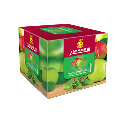 Al Fakher Shisha Tobacco Two Apples with Mint - Lavoo Design