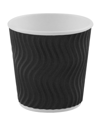 4oz Black 'S' Ripple Cups
