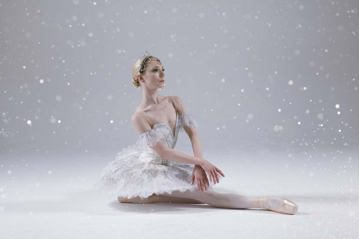 Ballet dancer Sarah Lamb wearing Christmas performance costume
