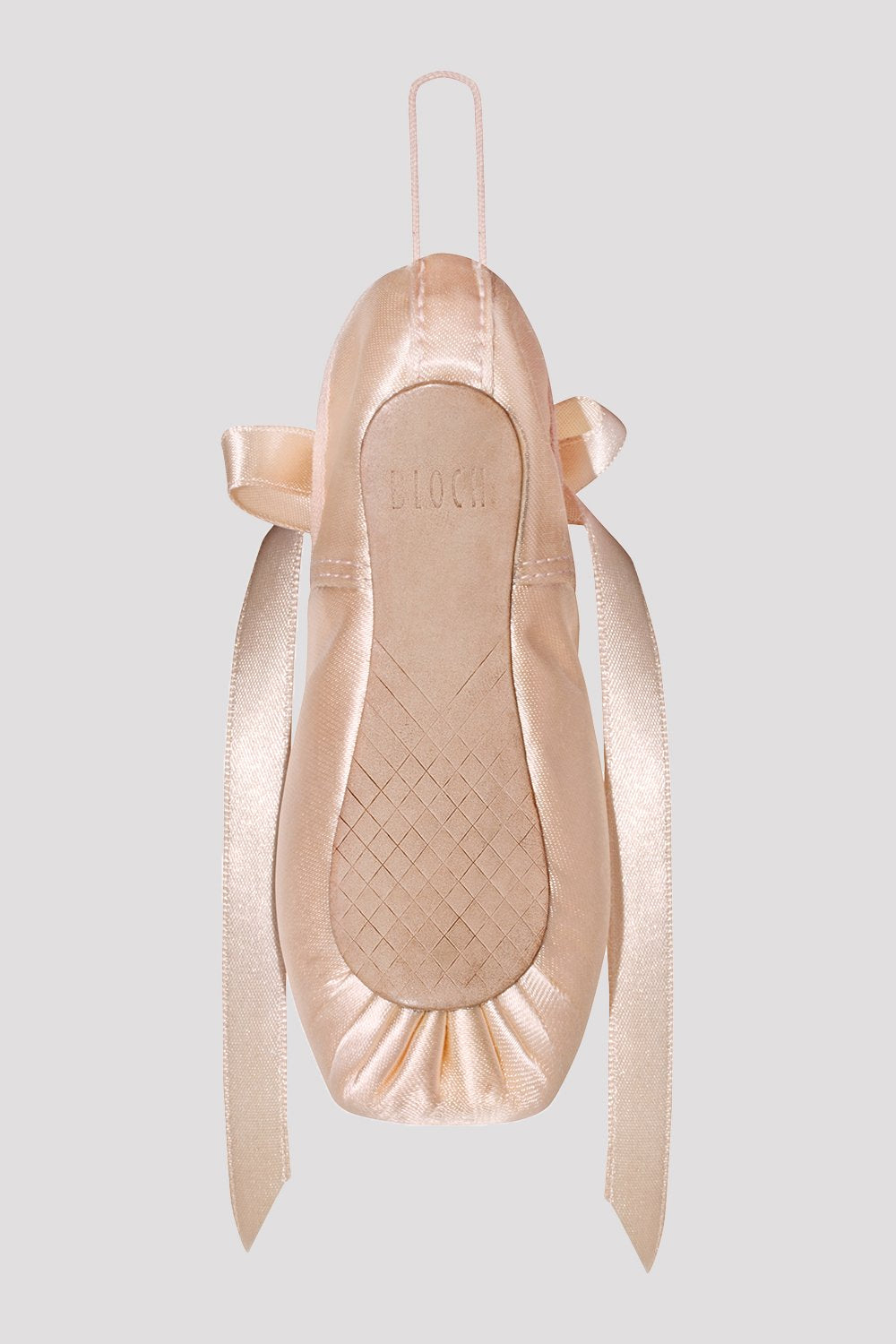 Pink Satin Decorative Pointe Shoe view from back