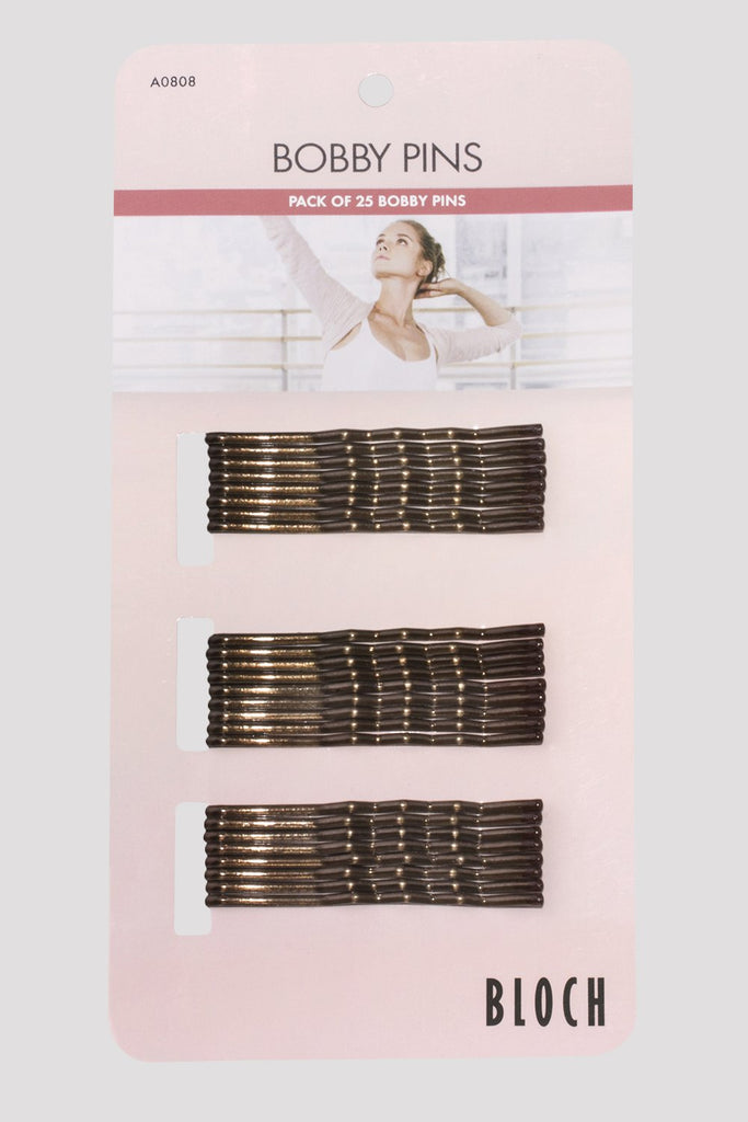 Brown Bloch Bobby Pins Pack single pack