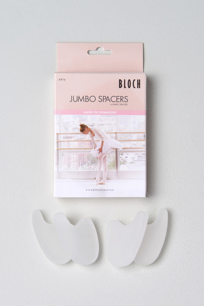Clear Bloch Jumbo Spacer four spacers and packaging
