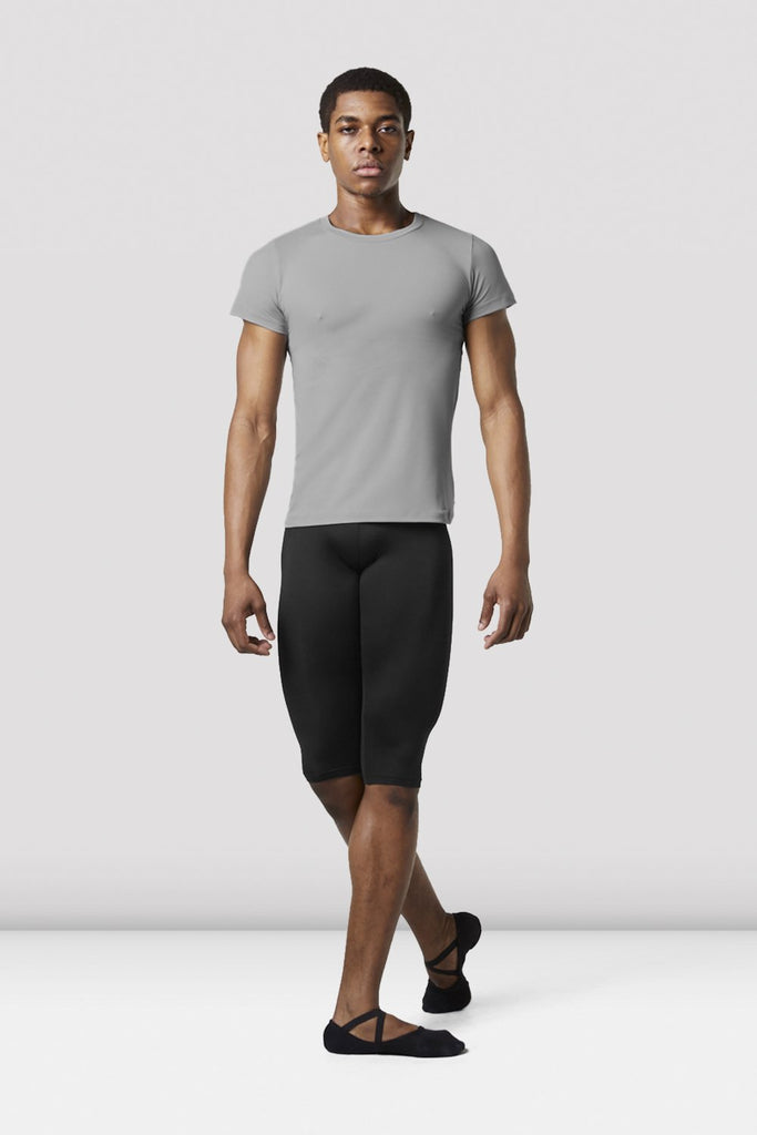 Grey Bloch Mens Fitted T-Shirt on male model in classical position