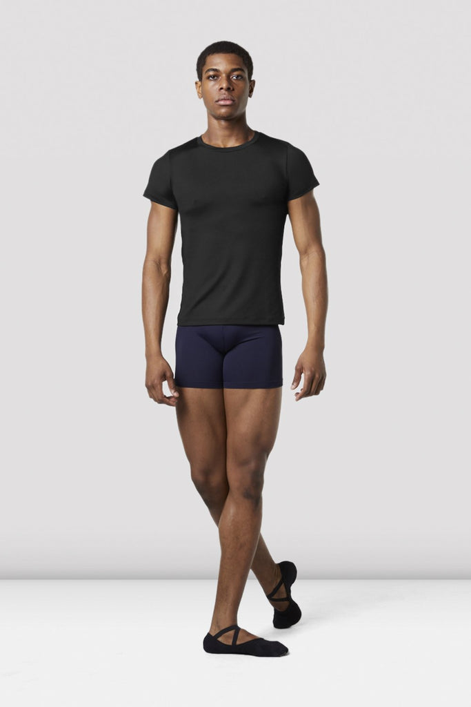Black Bloch Mens Fitted T-Shirt on male model in classical position
