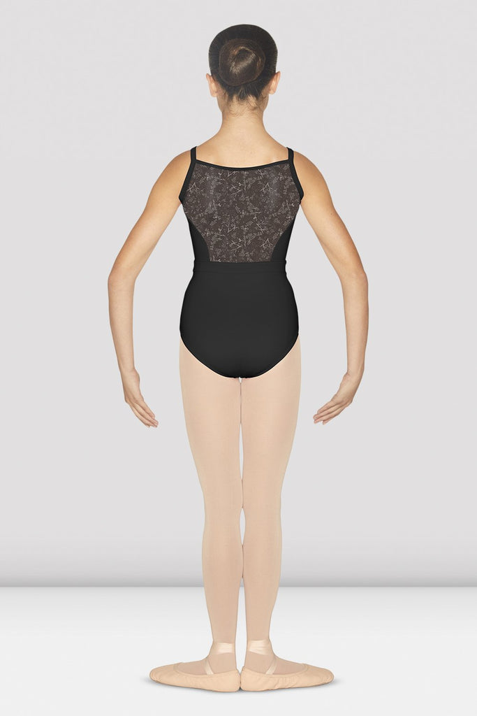 Girls Tessie Camisole Leotard with Printed Waistband