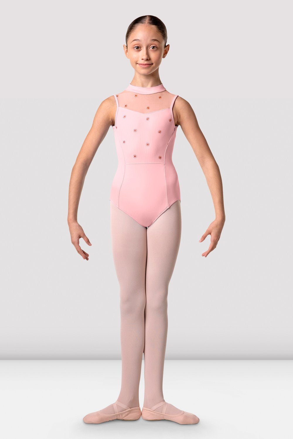 Girls Lillie High Neck Open Back Leotard - BLOCH US