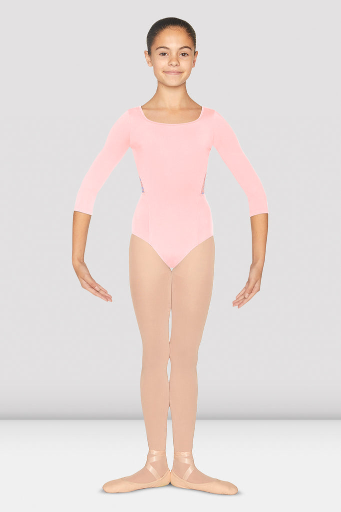 Girls Penrose Three Quarter Sleeve Leotard - BLOCH US