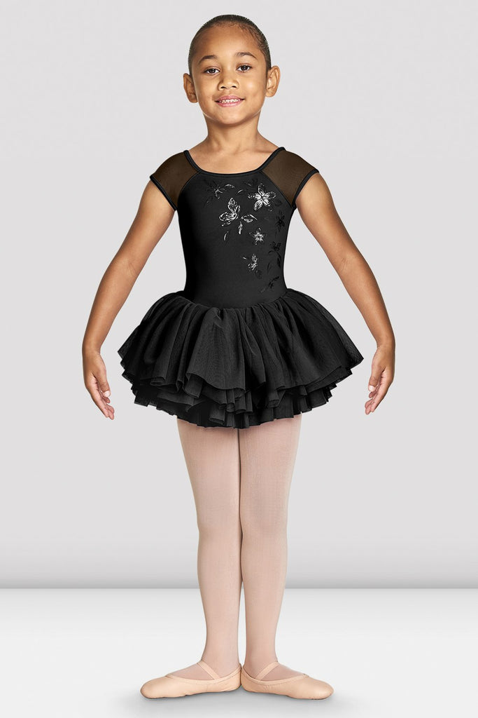 Girls Shirina Mesh Cap Sleeve Tutu Leotard - BLOCH US