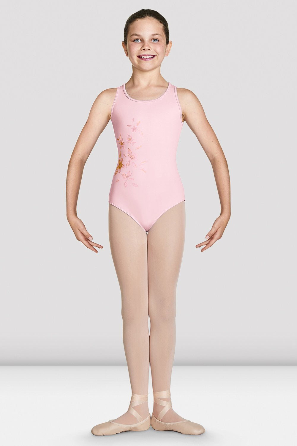 Girls Katana Mesh Wrap Back Tank Leotard - BLOCH US