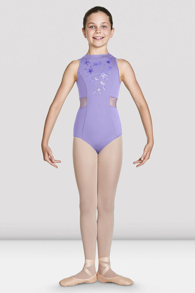 Girls Adrika High Neckline Zip Back Tank Leotard - BLOCH US