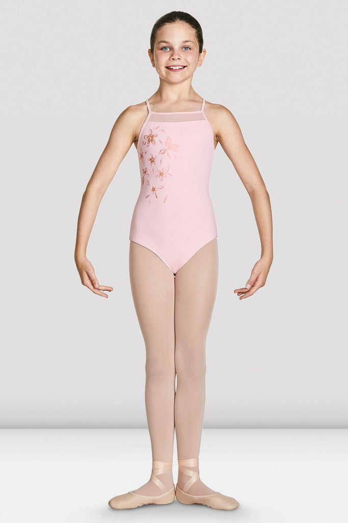 Girls Jacinda Cross Back Camisole Leotard - BLOCH US