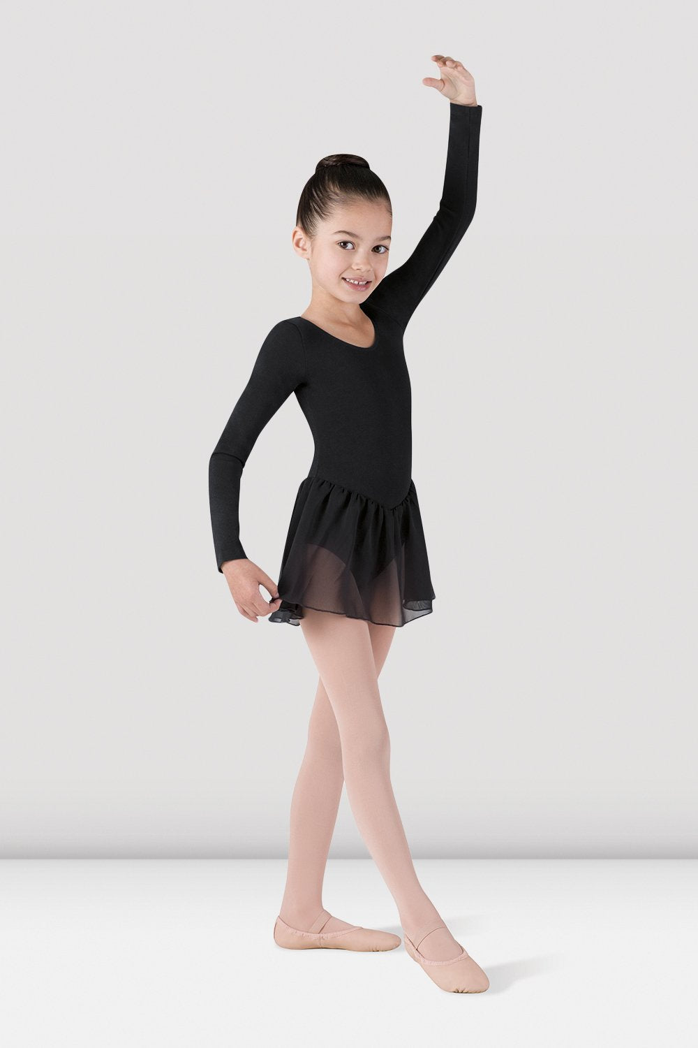 Girls Long Sleeve Skirted Leotard - BLOCH US