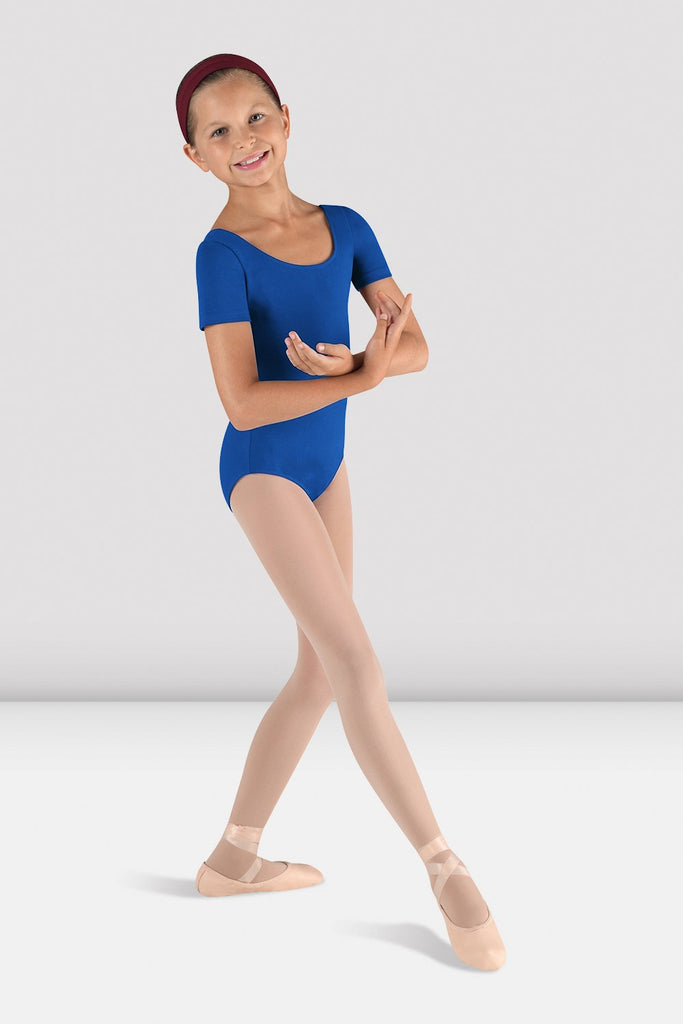 Girls Short Sleeve Round Neck Leotard - BLOCH US