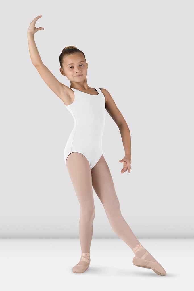 Girls Basic Round Neck Tank Leotard - BLOCH US