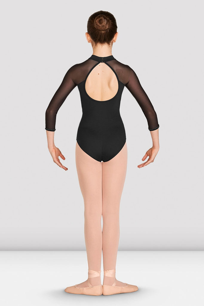 Girls Kaylee Mesh Long Sleeve Leotard - BLOCH US