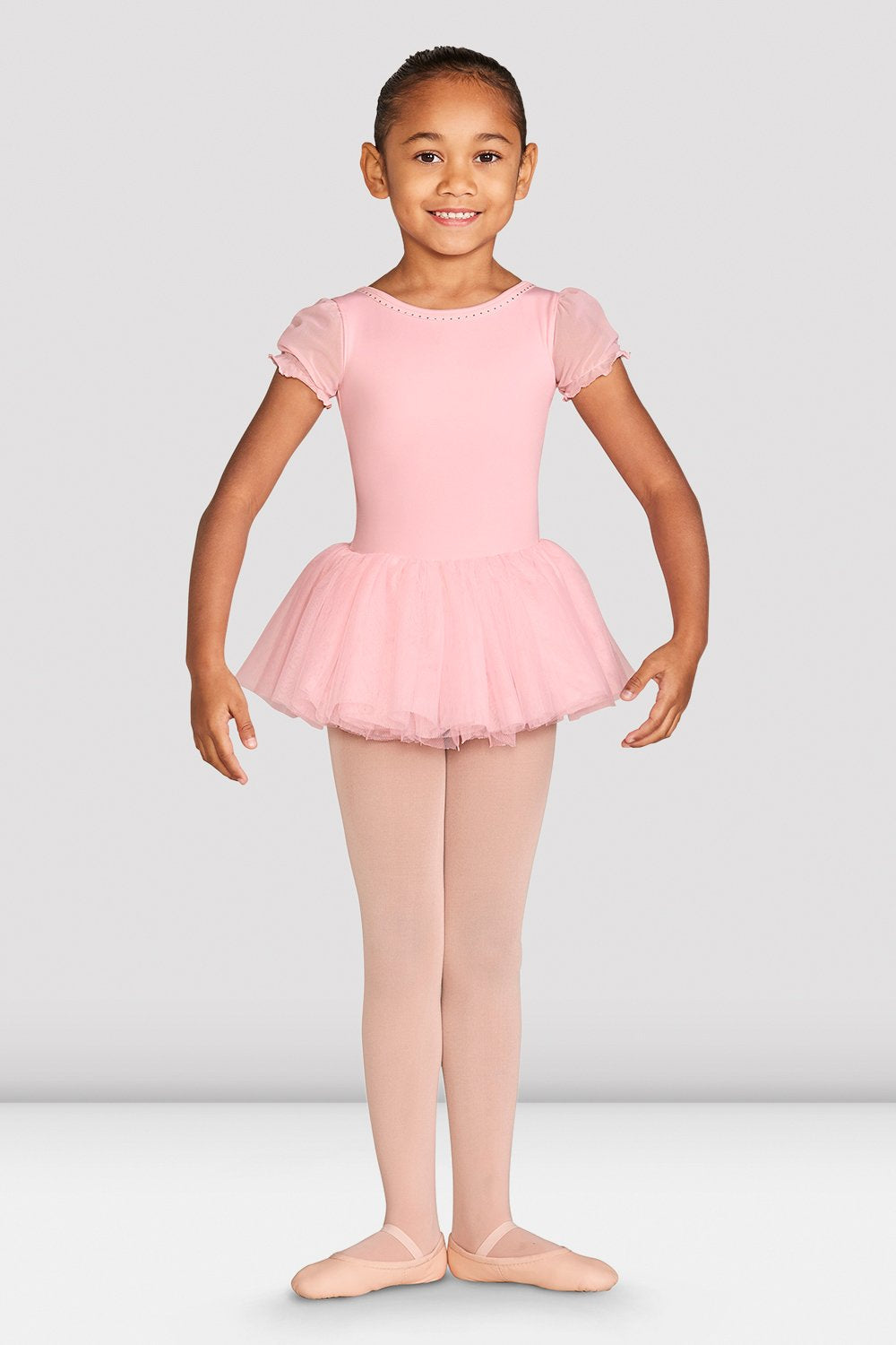 Girls Amelia Frill Cross Back Tutu Leotard - BLOCH US
