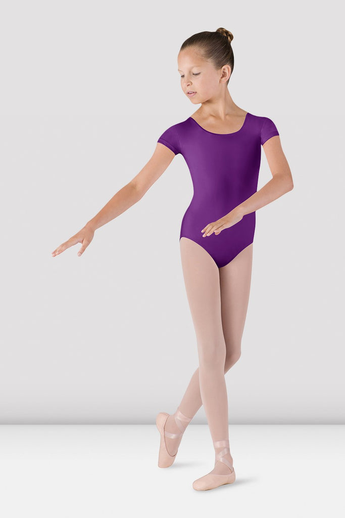 Girls Dujour Cap Sleeve Leotard - BLOCH US