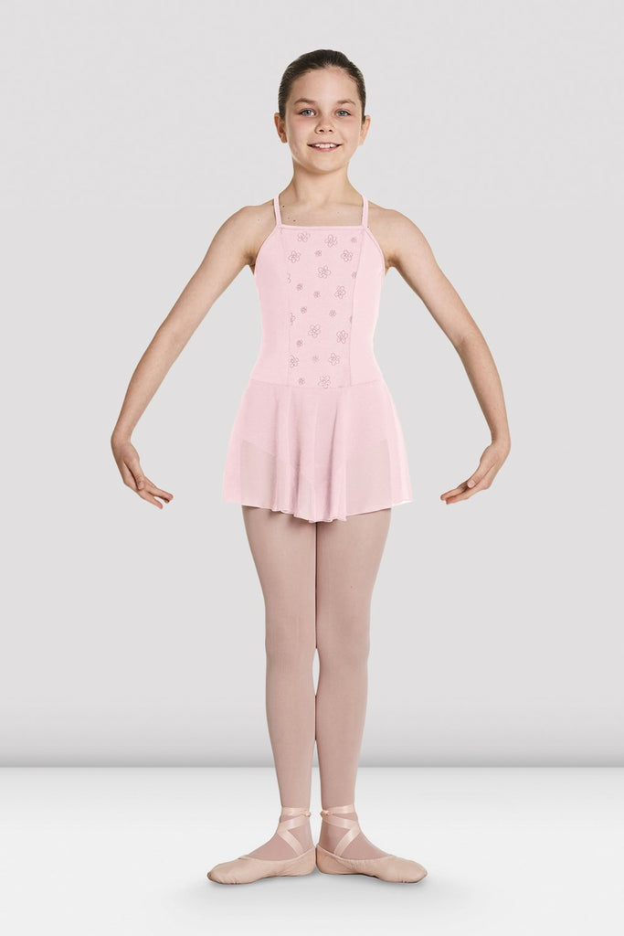 Girls Jeana Mesh Skirted Leotard - BLOCH US