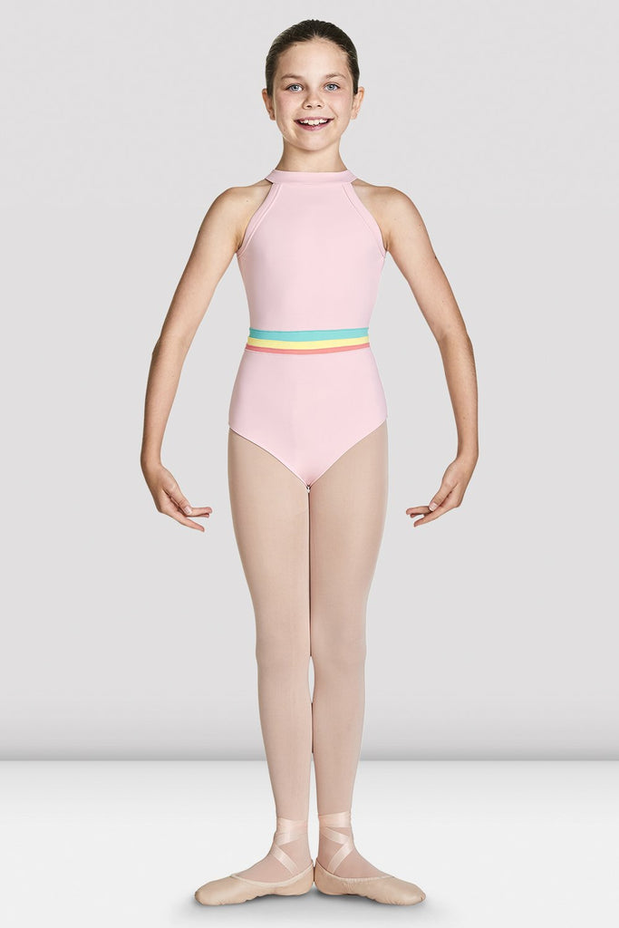Girls Aisha High Neckline Halter Leotard - BLOCH US