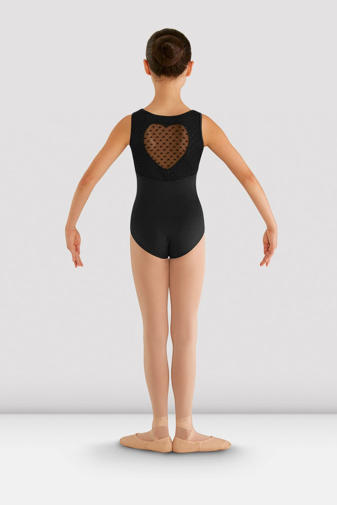 Girls Miame Heart Mesh Leotard - BLOCH US