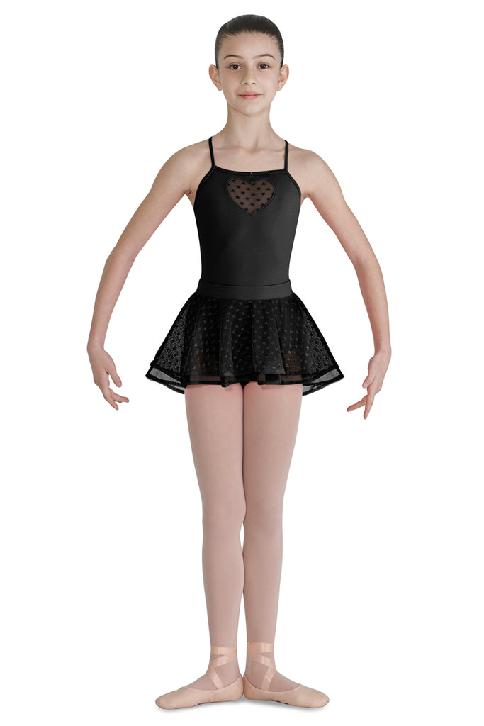 Girls Bahibak Heart Mesh Skirt - BLOCH US