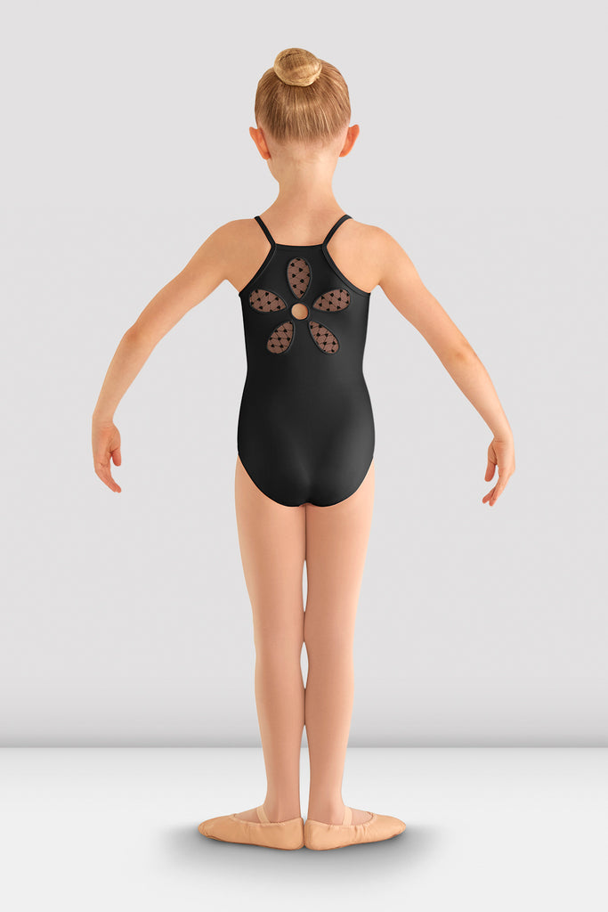 Girls Begonia Flower Mesh Back Leotard - BLOCH US