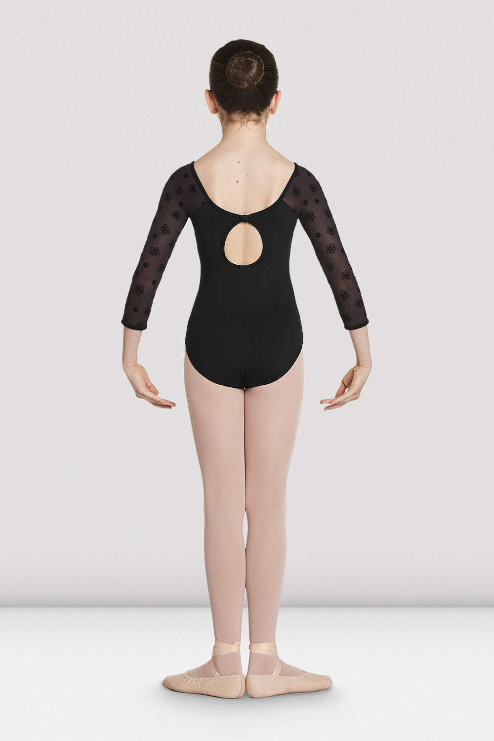 Girls Nalaia Mesh Long Sleeve Leotard - BLOCH US