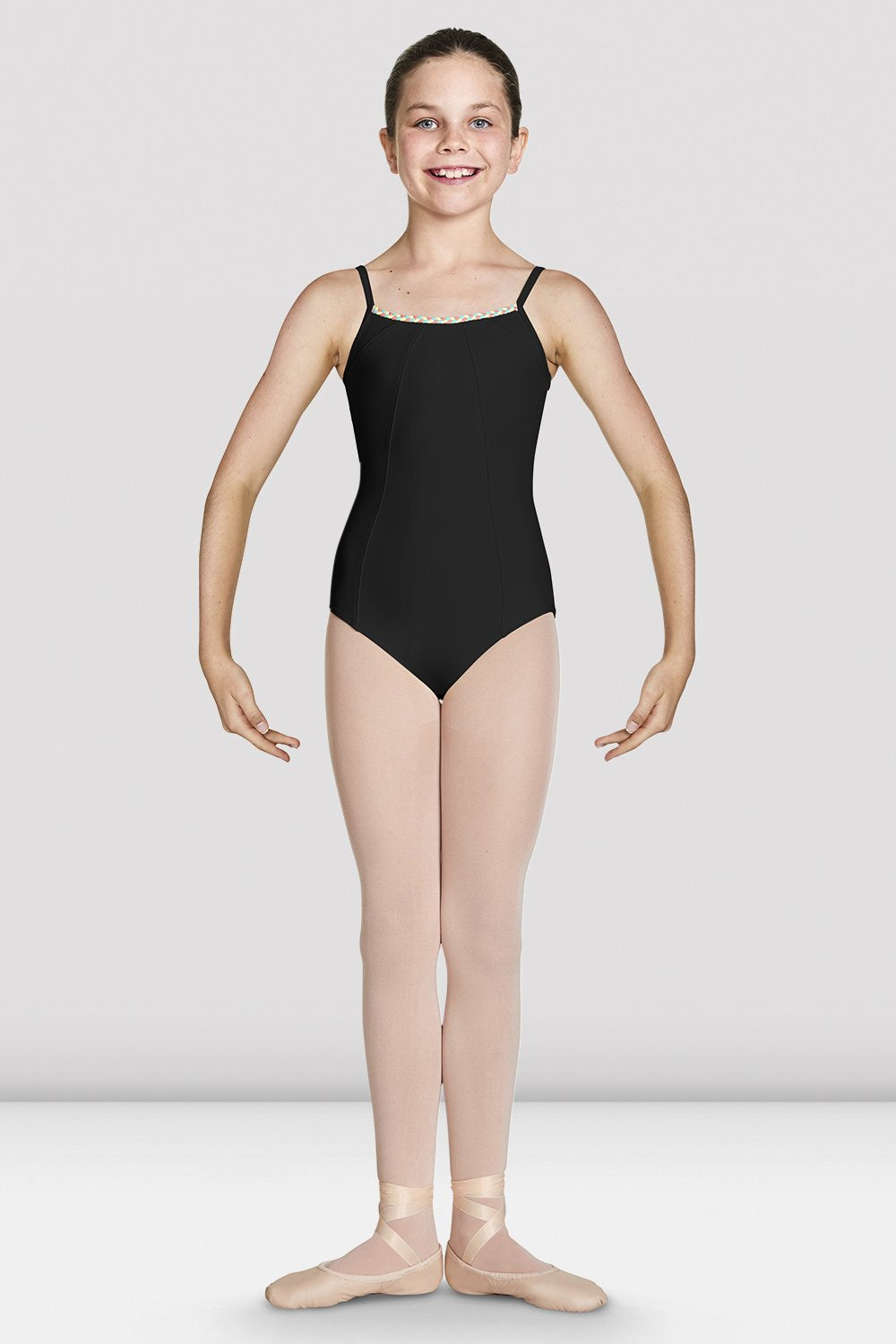 Girls Lucille Cut Out Back Camisole Leotard - BLOCH US