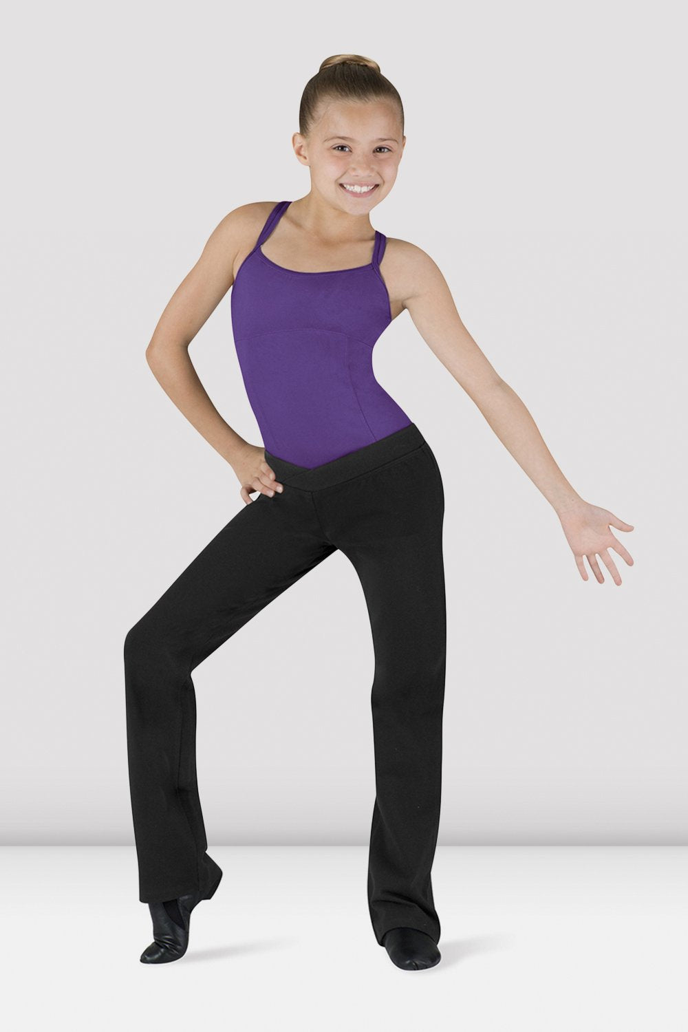 Girls V Front Boot Leg Jazz Pant - BLOCH US