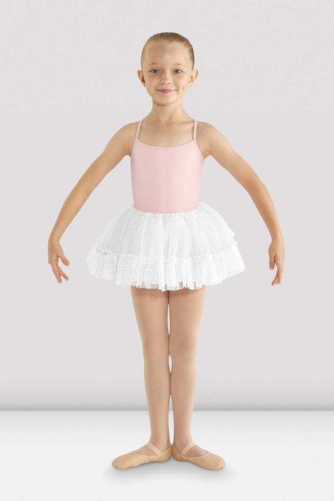 Girls Addelyn Heart Mesh Tutu