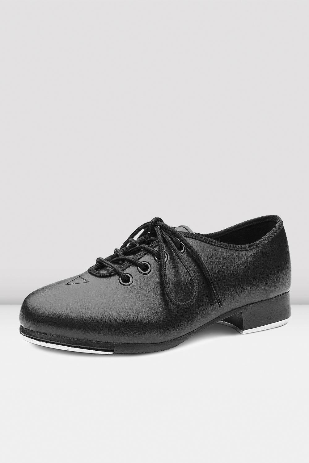 Katz Dancewear Girls Ladies Black PU Stage Jazz Tap Dance Shoes with Acoustic Tap Plates.All Sizes
