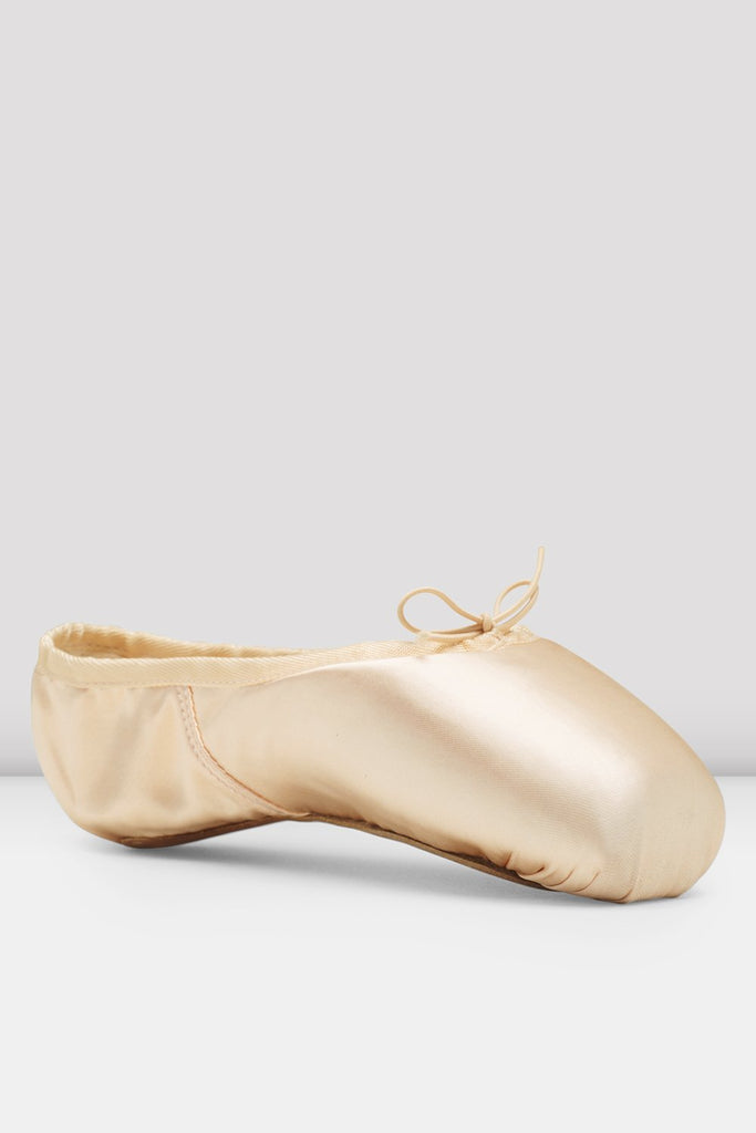 Pink satin Bloch European Balance Pointe Shoes single shoes