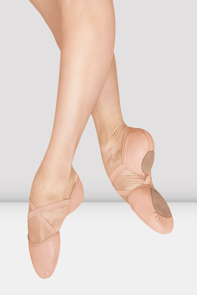 Ladies Elastosplit X Leather Ballet Shoes - BLOCH US