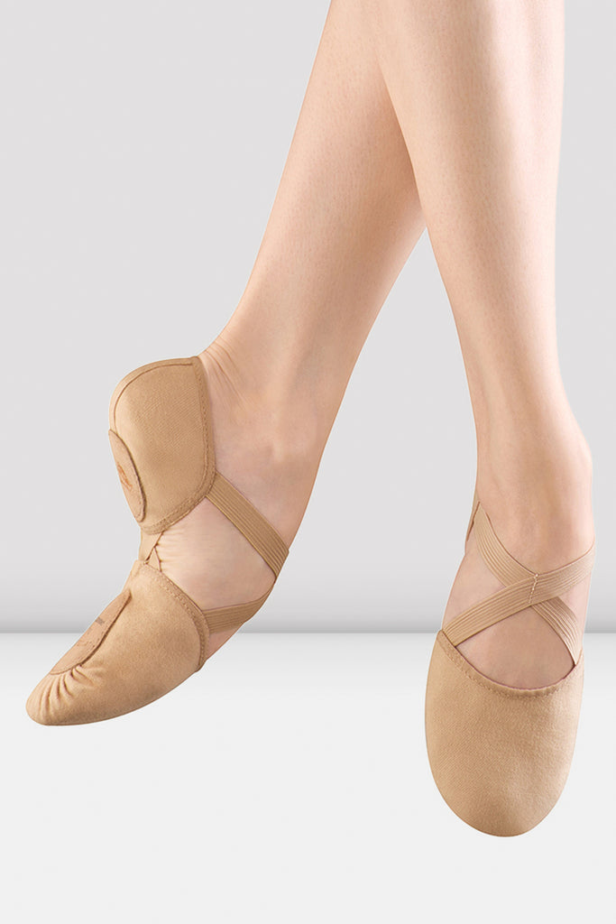 Ladies Elastosplit Canvas Ballet Shoes - BLOCH US