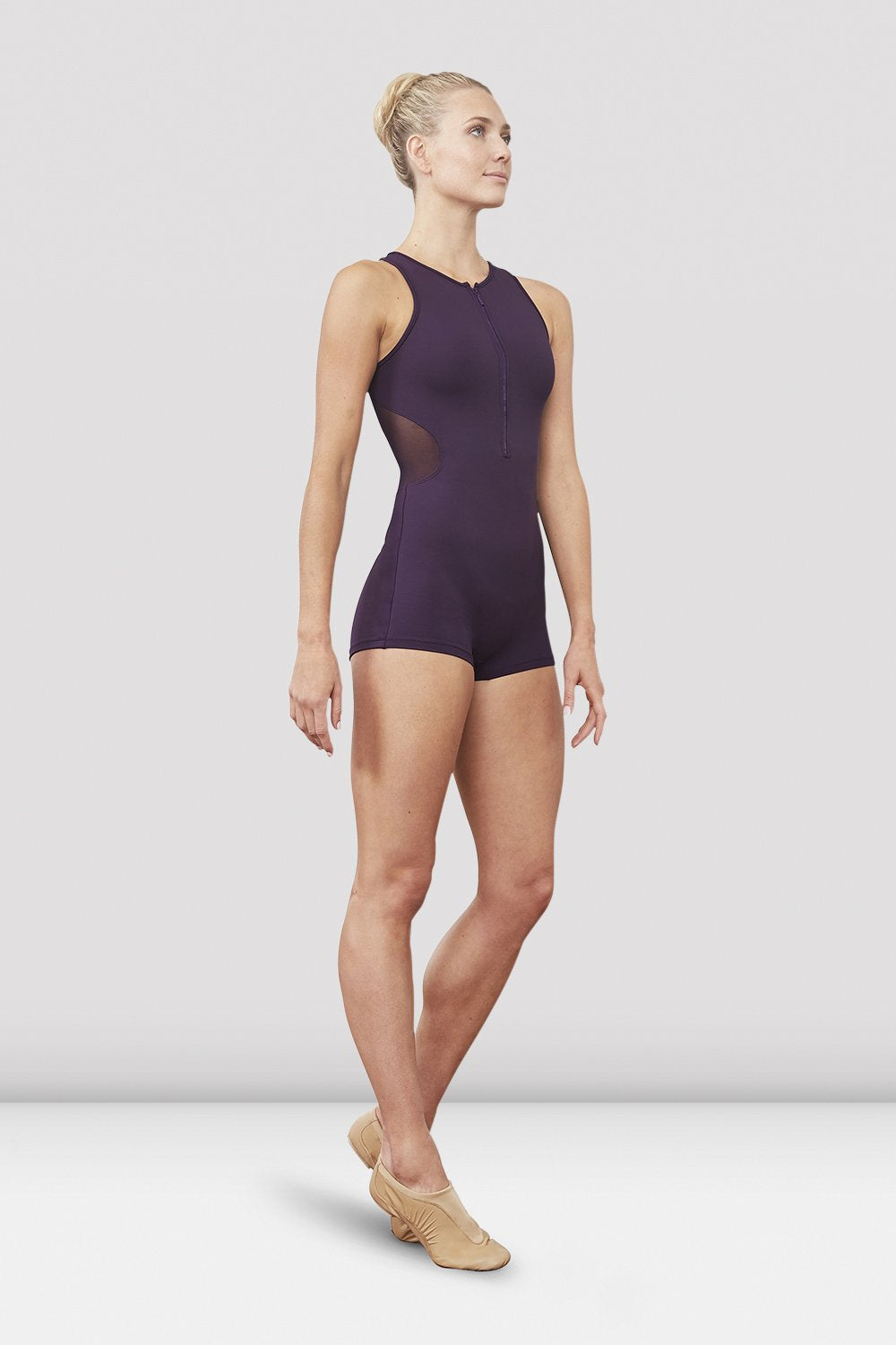 Ladies Ellora Zip Front Short Unitard