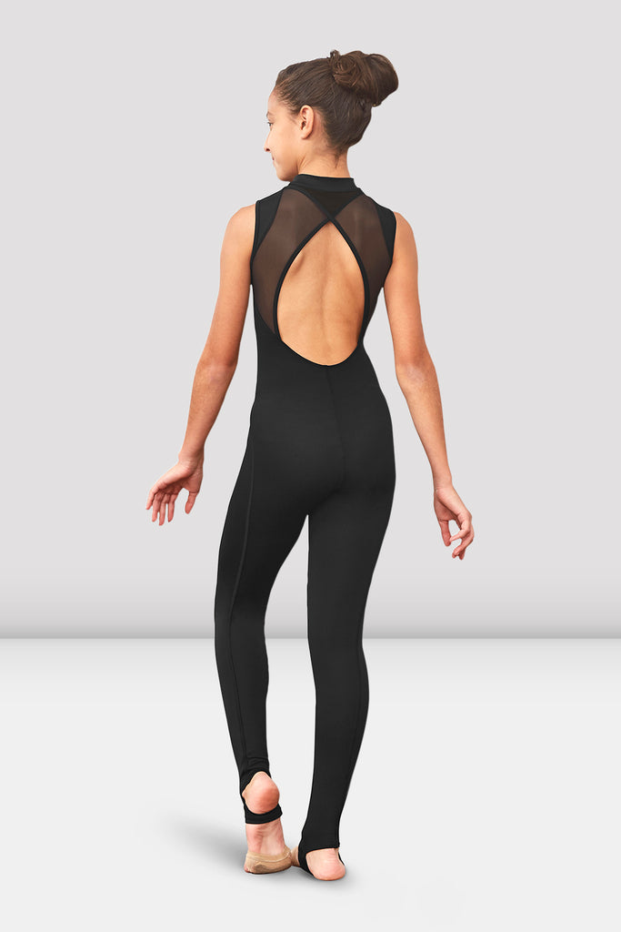 Girls Emori Open Back Stirrup Unitard - BLOCH US