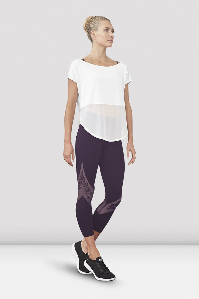 Ladies Saori Mesh Panel Legging - BLOCH US