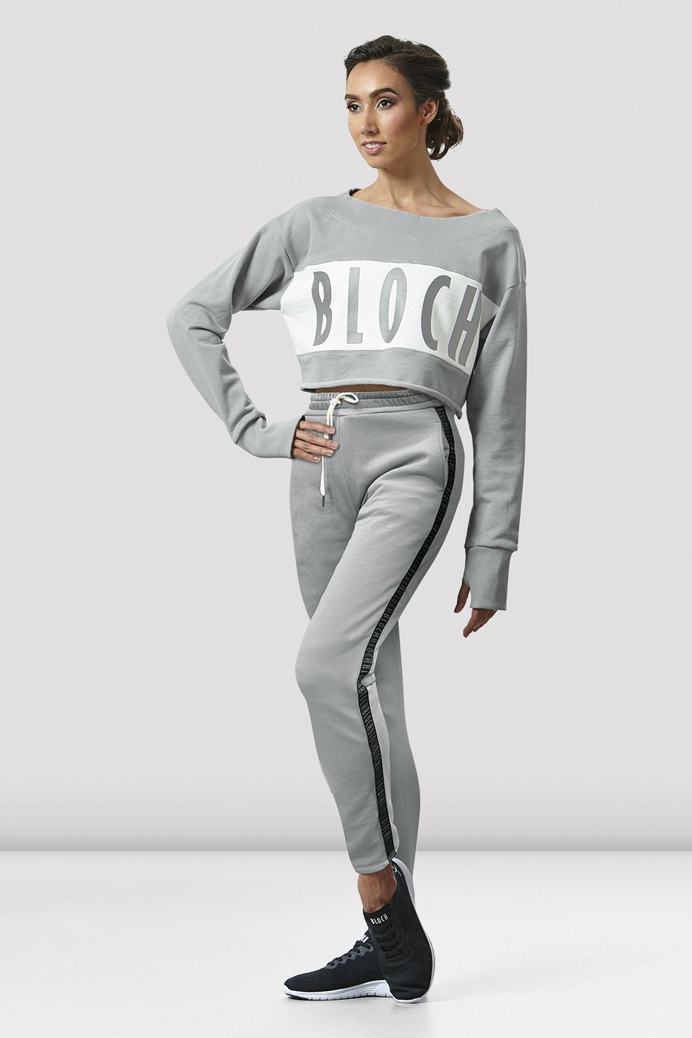 Ladies High Waist Logo Track Pant - BLOCH US
