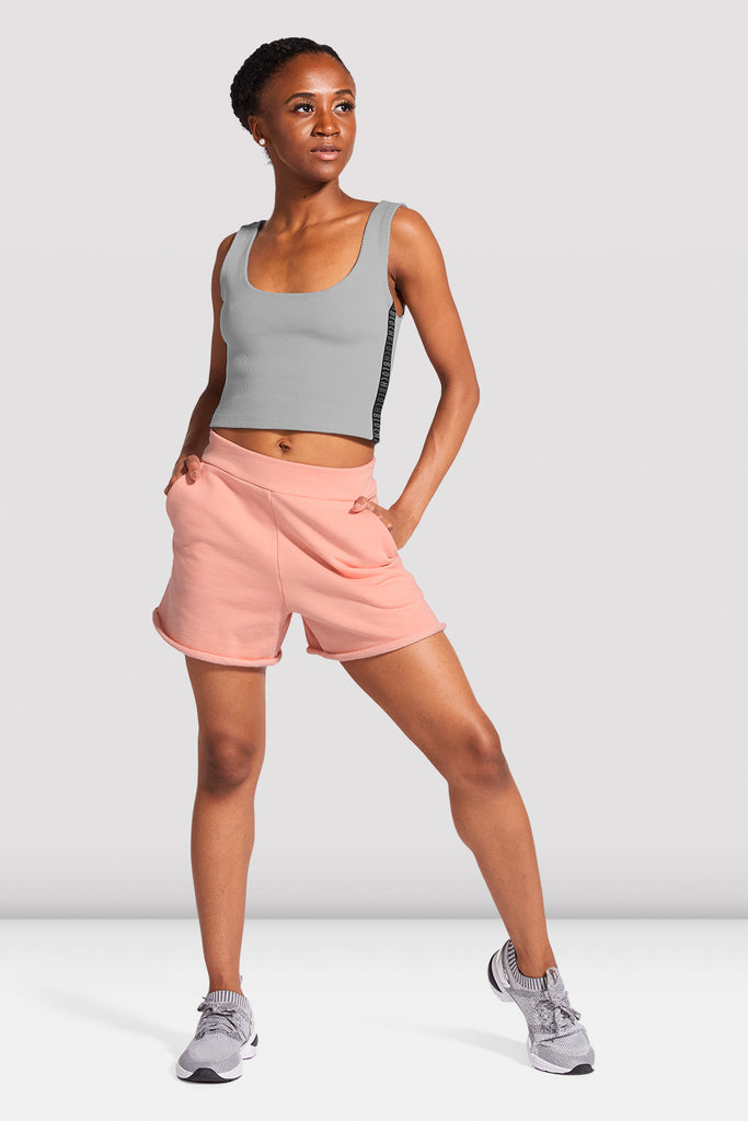 Ladies High Waist Logo Short - BLOCH US