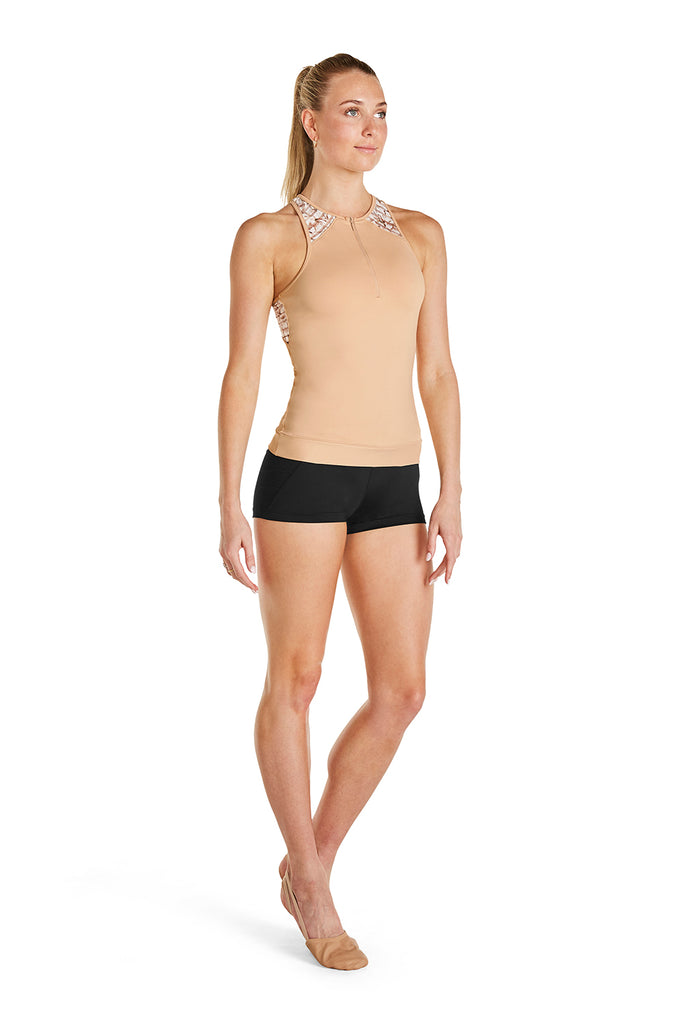 Ladies Zip Front Tank Top - BLOCH US