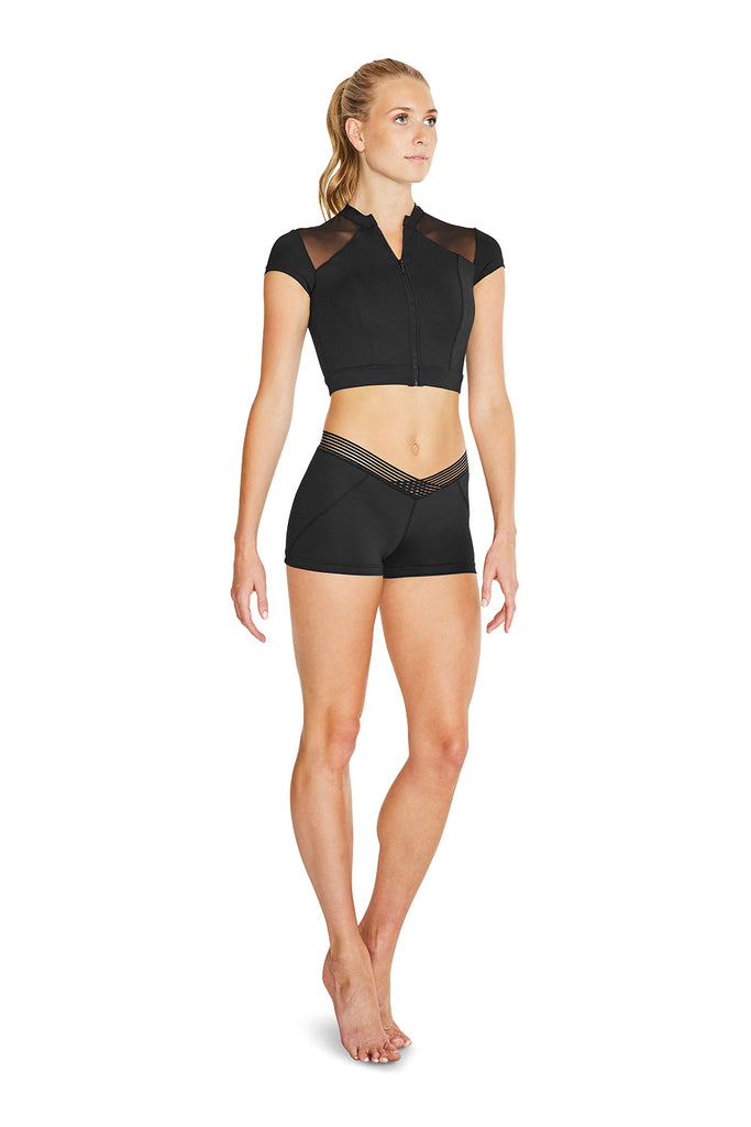 Ladies Demoiselle V Waisted Shorts - BLOCH US