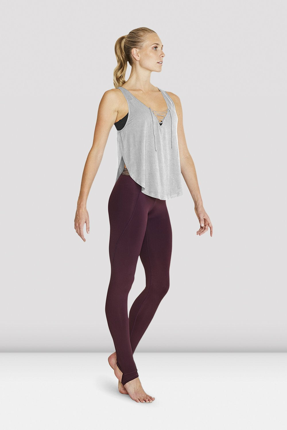 Ladies Lace Up Loose Tank - BLOCH US