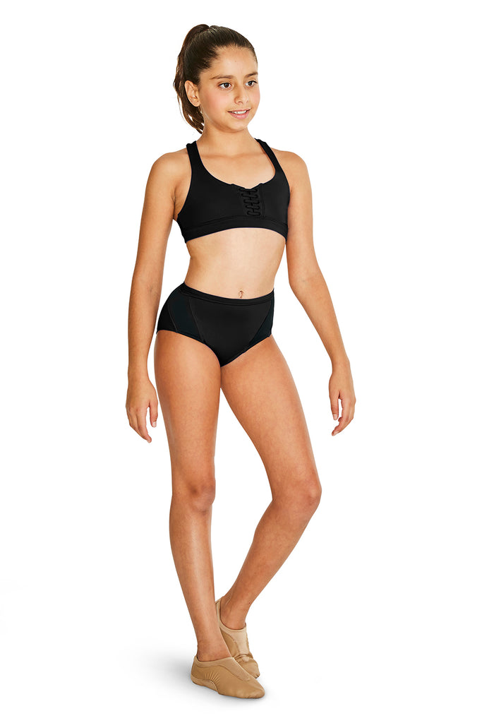 Girls Fiji Lace Up Front Crop Top - BLOCH US
