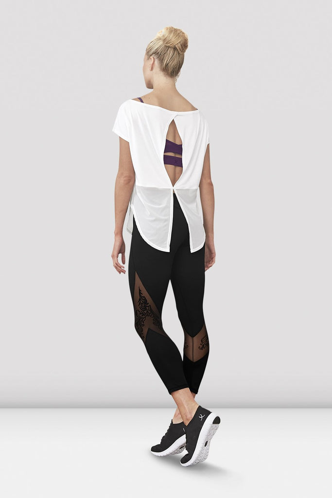 Ladies Rosy Mesh Tie Back T-Shirt - BLOCH US