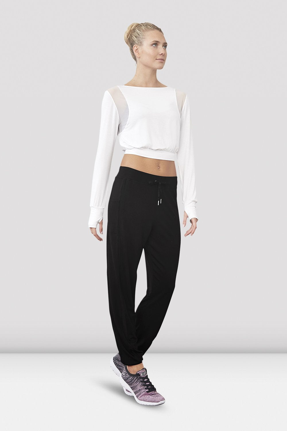 Niolle Ladies Cropped Long Sleeve Top