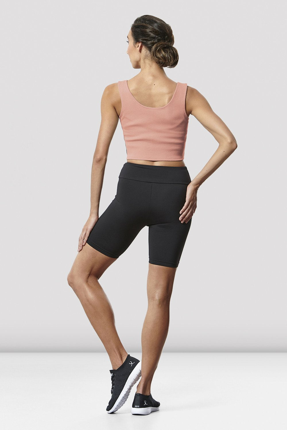 Ladies Rib Logo Crop Top - BLOCH US