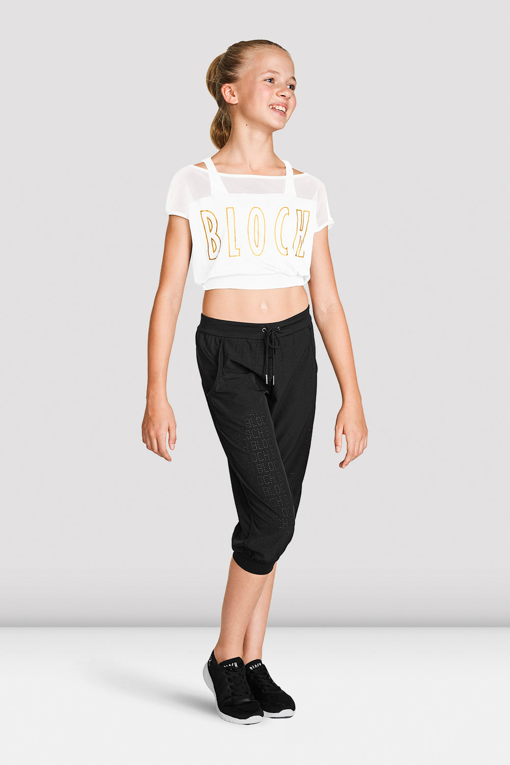 Girls Crop Mesh Tee - BLOCH US