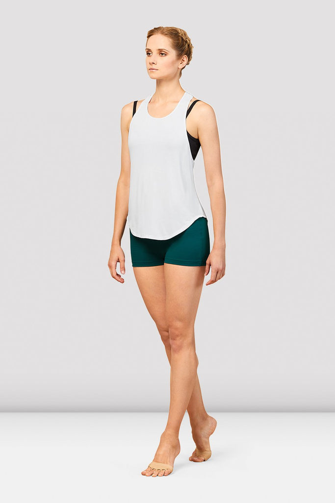 Ladies Bordeaux Mesh Tie Back Tank Top - BLOCH US