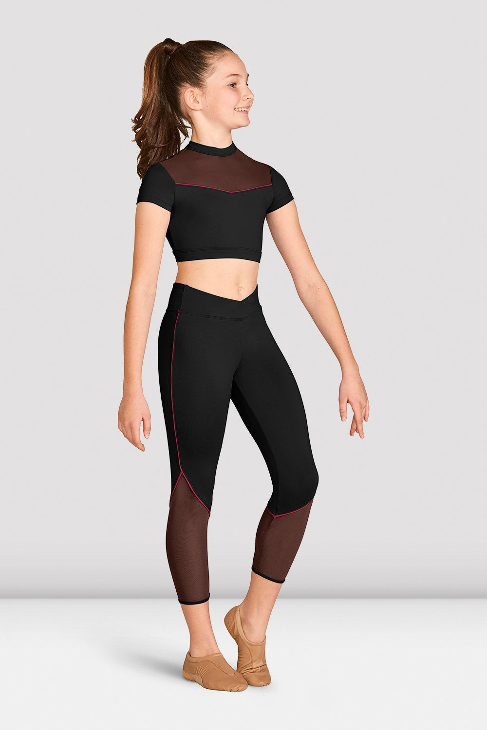 Girls Contrast Piping Seven Eighth Legging - BLOCH US
